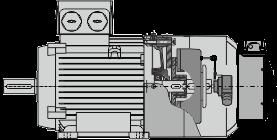 motor with brake, encoder, force vent